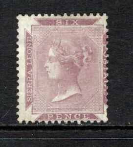 Sierra Leone QV 1859-74 (No Wmk) 6d. Dull Purple SG1 Mint No Gum (High Cat)