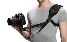 "GGS F1 Quick Release Shoulder Under-arm Strap w/ 1/4"" Screw Hook f/ DSLR Camera"
