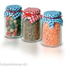 Bodo Hennig 27392 Miniatur Vorratsgläser 3 Gläser 1:12 für Puppenhaus NEU!   #