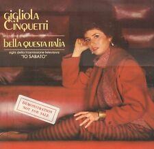 """GIGLIOLA CINQUETTI – Bella Questa Italia (1982 VINYL SINGLE 7"""" ITALY)"""