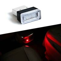 2pcs USB Plug-In Small Red LED Lights Car Home Dash Floor Atmosphere Lighting