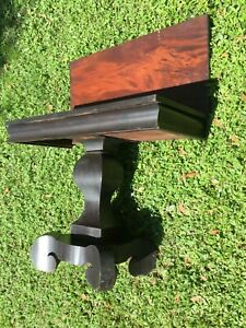 American Empire Whist  Table Ca. 1830-40 Flame Mahogany Well Preserved Original