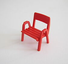 PLAYMOBIL (V164) CAMPING - Chaise Rouge Caravane 3588 Vintage