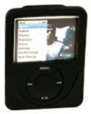 Silikontasche Apple iPod nano G3 Etui Hülle Slimbumper Case Cover Schwarz Flip