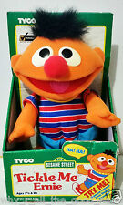 TYCO Sesame Street TICKLE ME ERNIE Plush Character Toy Doll New/Used In worn BOX