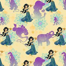 """Disney Princess Jasmine Holding Lamp 100% cotton Fabric by the Remnant 30"""""""