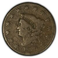 1829 1c Coronet Head Large Cent - Better Date - SKU-Y2399