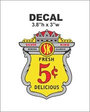 Oak Acorn Vending North Western Gumball Machine Silver King 5 cent Vinyl Decal