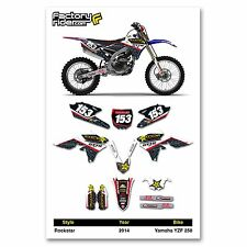 2014 YAMAHA YZF 250 Team Rockstar Motocross Dirt Bike Graphics kit Decal