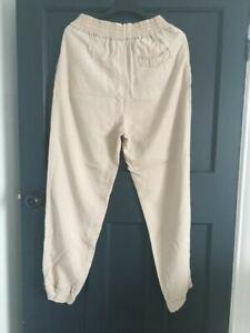 Stefanel trousers cuff beige size M
