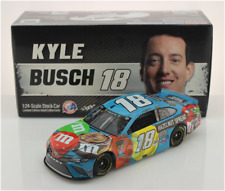 NEW NASCAR 2019 KYLE BUSCH #18 HAZELNUT SPREAD M&MS 1/24 CAR