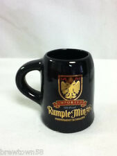 Rumple Minze imported peppermint schnapp shot glass w/handle shooter bar  BK2