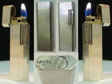 Briquet ancien { MYON Président } French Vintage Gas Lighter Feuerzeug Accendino