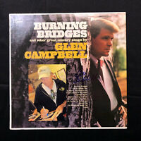 GLEN CAMPBELL Signed Autographed Signature BURNING BRIDGES Record Album LP
