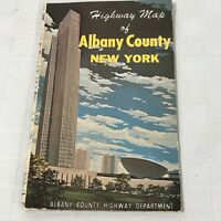 1972 ALBANY COUNTY Road Map Albany Colonie Cohoes Loudonville Menands Altamont
