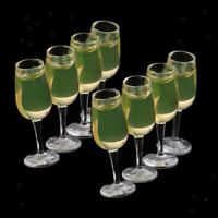 8 Pieces 1:12 Mini Wine Glasses Set Dolls House Kitchen Table Accessories