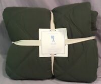 Pottery Barn Kids Green Dylan Twin Quilt+1 Euro Sham
