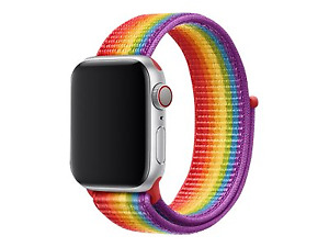 GENUINE OFFICIAL APPLE WATCH SPORT LOOP STRAP BAND 38MM 40MM - PRIDE EDITION