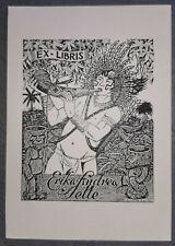 Exlibris Oliveira für Selle / Indianer