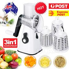 Multifunction Vegetable Slicer Cutter Grater Manual Food Chopper Machine+3 Blade