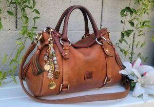 Dooney & Bourke small florentine natural Satchel leather purse handbag shoulder