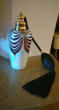 Vintage Italian iridescent pulled feather art glass perfume bottle/atomizer