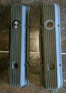 1970 CAMARO Z28 CORVETTE LT1  ALUMINUM VALVE COVERS HL-3455693-P & HR-4455693-P
