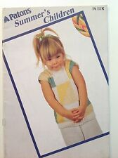 Vintage Patons Summer childrens jumper sweater knitting pattern book