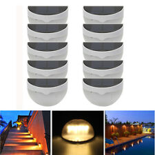 10X 6 LED Solar Power Light Sensor Wall Light Outdoor Garden Fence Yard Lamp
