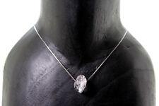 Collar Diamante Herkimer 100% Natural. Plata 1ª Ley .925 Nuevo.
