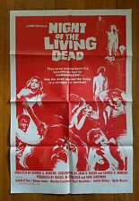 "NIGHT OF THE LIVING DEAD R'1978 Original 27""x41"" one-sheet poster Romero zombies"