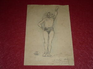 [Coll.jean Domard SPORTS] Beautiful Drawing Original Lucien Chaverni/Gymnast