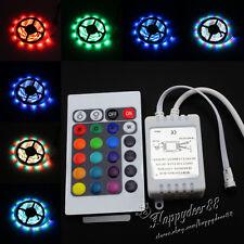 LED Strip Light Waterproof 5M 3528 SMD RGB 300 LEDs Flexible 12V+Receiver+Remote