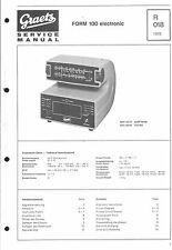 Graetz Service Manual für Form 100 electronic
