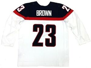 DUSTIN BROWN TEAM USA 2014 SOCHI OLYMPICS WHITE NIKE JERSEY LOS ANGELES KINGS