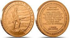 2nd Amendment • 3 New Coins • 1 oz each .999 Fine Copper Bullion
