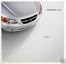 2008 Hyundai Sonata sedan sales brochure - 2nd printing