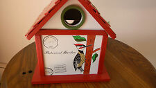 Woodpecker White Birdhouse from Backyard Collection for Backyard-Porch-Tree Nib