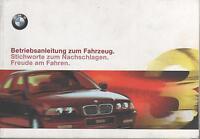 BMW 3er E46 Betriebsanleitung 1999 Handbuch Bordbuch  316 318 320 323 328 330 BA