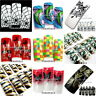 70pcs Random Color Airbrushed Pre Design French False Acrylic Gel Nail Art Tips