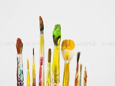 PHOTOGRAPHY COMPOSITION PAINT PAINTBRUSHES COLOURS STAINED POSTER PRINT BMP10572