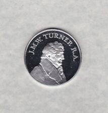 J.M.W. TURNER 200TH ANNIVERSARY SILVER MEDALIC ISSUE IN NEAR MINT CONDITION