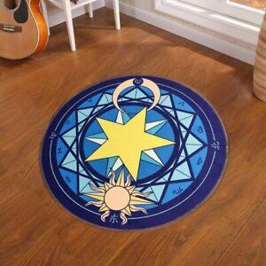 Fashion Pentacle Star Magic Round Carpet Living Room Anti-Slip Cartoon Floor Mat