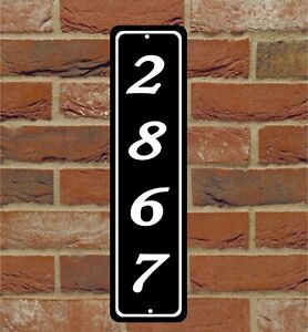 "Personalized Home Address Sign Aluminum 3"" x 12"" Custom House Number Plaque"