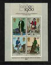 GB POST OFFICE ISSUE - MINT 2nd MINISHEET INTERNATIONAL STAMP EXHIBITION 1980
