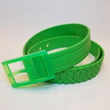 Unisex Silicone Flexible Size Rubber Belt/ Plastic Buckle High Quality GREEN