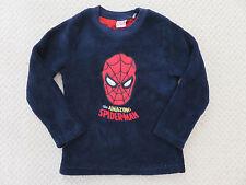 SPIDERMAN Navy Fleece Sweatshirt /Top/ Jumper AGE 5-6