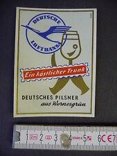 BIRRA-etichetta Wernesgrüner fredda/Deutsche Lufthansa