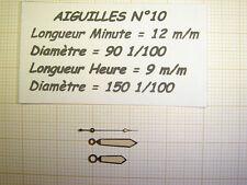 1 PAIRE D'AIGUILLES POUR MONTRES BRACELET POUR CALIBRES ETA /AS/ HS/UNITAS/ FEF