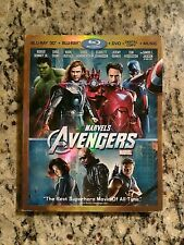 MARVEL THE AVENGERS (2012 3D BLU-RAY DVD) TARGET EXCLUSIVE SLIPCOVER BONUS DISC